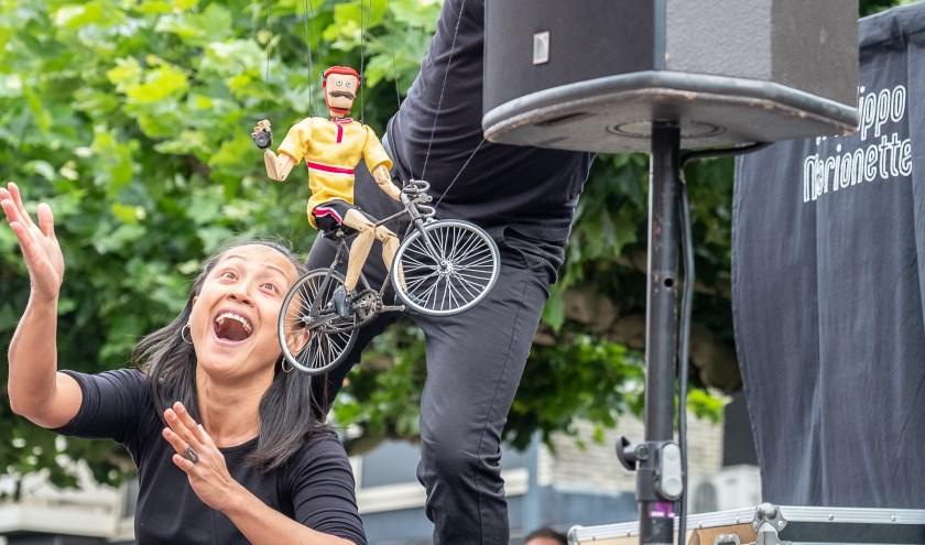 Het marionettentheater was volgens velen één van de leukste acts. Foto: Burry van den Brink