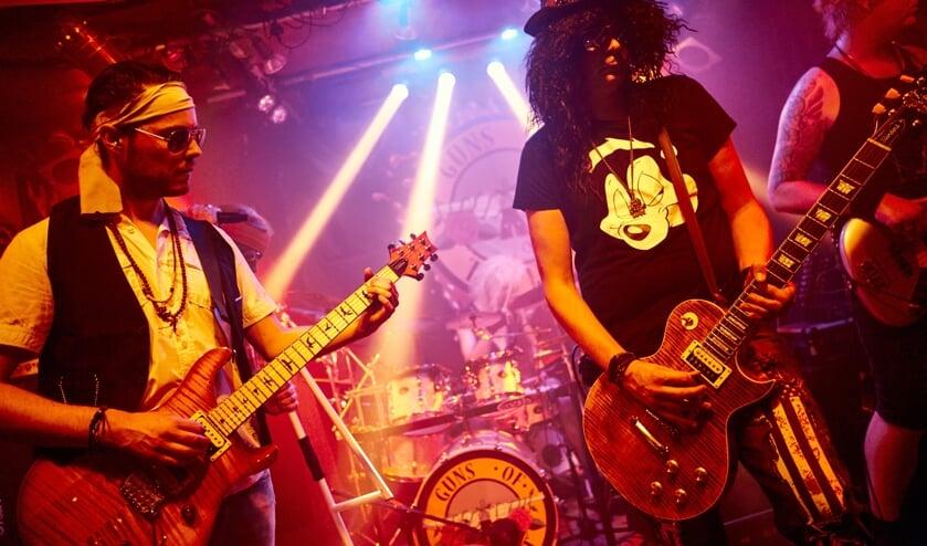 Guns of the East, coverband van Guns 'n Roses. Foto: PR