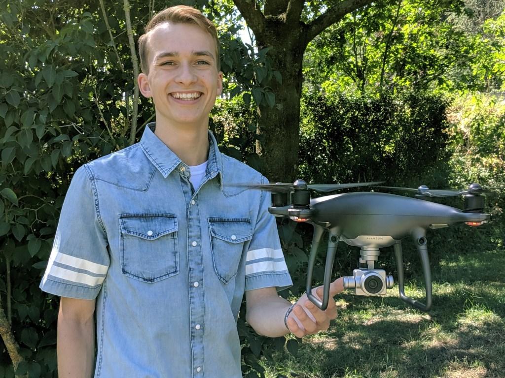 Drone-piloot Joha Stekelenburg. Foto: PR  © Achterhoek Nieuws b.v.