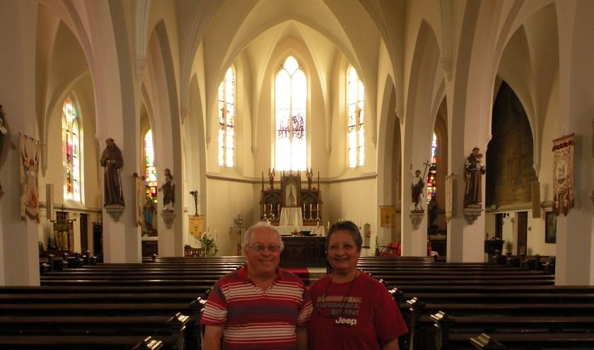 Het echtpaar Wels in de St. Jan de Doperkerk in Kilder. Foto: PR