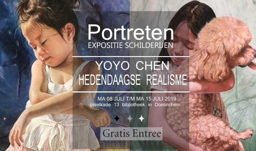 De schilderijen over de dochter van Yoyo Chen. Foto: PR