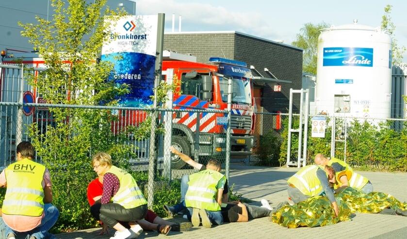 De BHV'ers van Bronkhorst High-Tech maakten een prima indruk. Foto: Marlie Nieuwenhuis