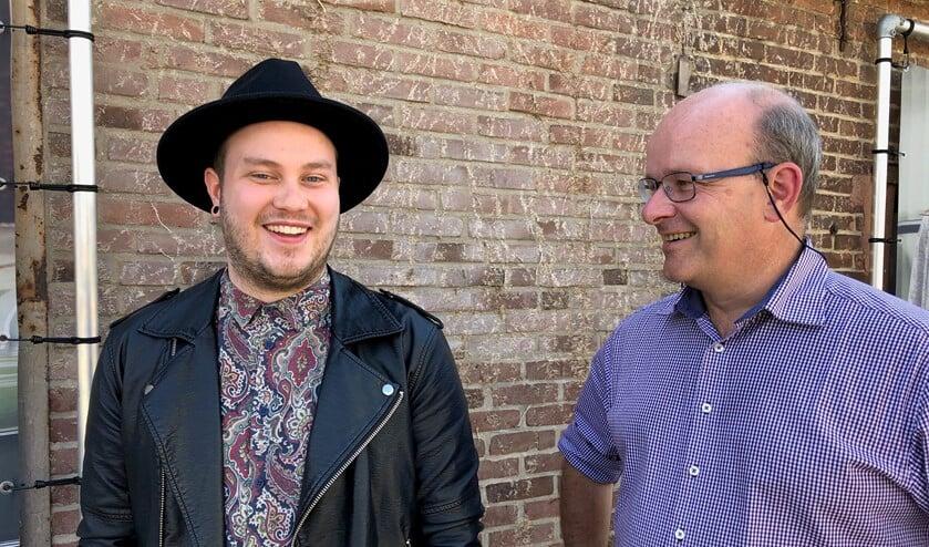 Evert Stroet met regiocoördinator Ivar van Asten van ZomerOndernemer. Foto: PR