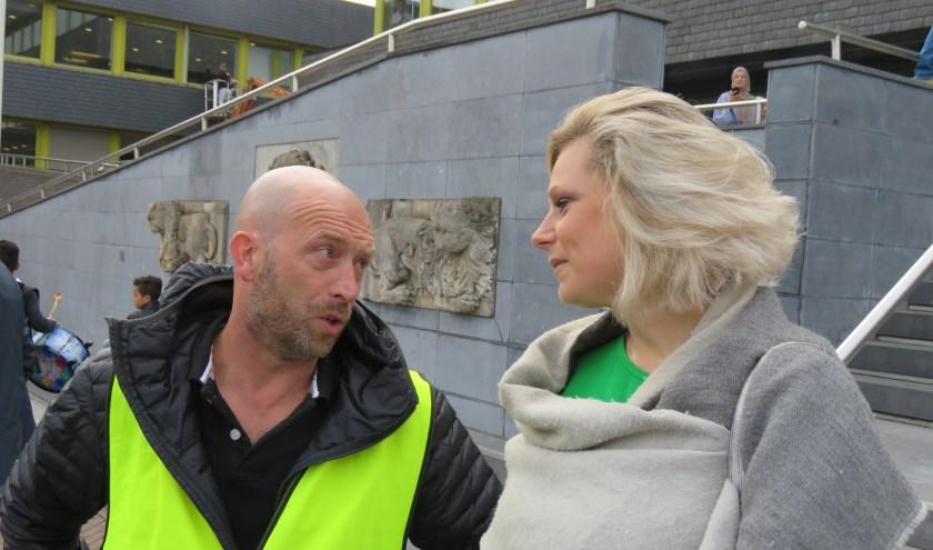 Directeur Joost van Campen in gesprek met wethouder Maureen Sluiter. Foto: Bert Vinkenborg