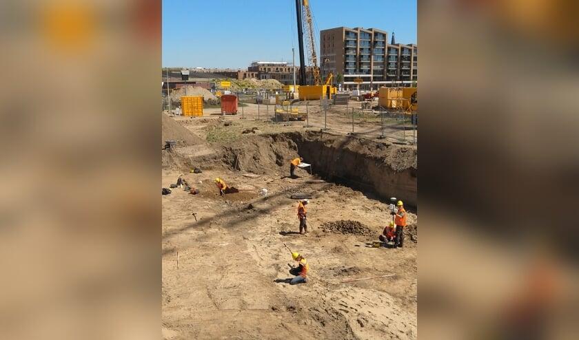 Archeologen van de gemeente Zutphen deden de afgelopen weken opgravingen naar een van de oudste bedrijfscomplexen van De Mars: zaagmolen De Zwaan. Foto: PR