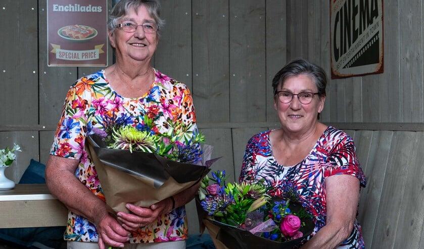 Gerrie Hijink (links) en Dini Klompenhouwer. Foto: Harm Huinink