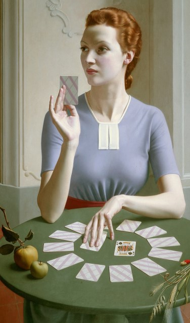 Meredith Frampton, A Game of Patience, 1937, Ferens Art Gallery: Hull Museums. Foto: Estate of Meredith Frampton