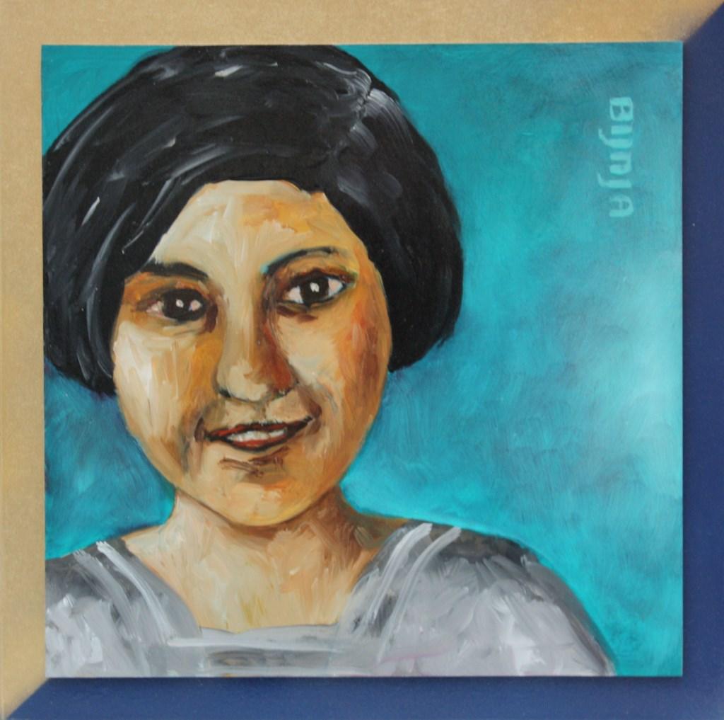 Een schilderij van Ada Stel, voor de expositie Geleende gezichten. Foto: PR  © Achterhoek Nieuws b.v.