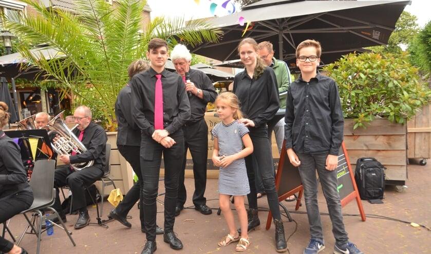 Ben Weersink, Bo Wientjes (jongste lid), Nadine van der Wel en Hugo van 't Schip. Foto: PR