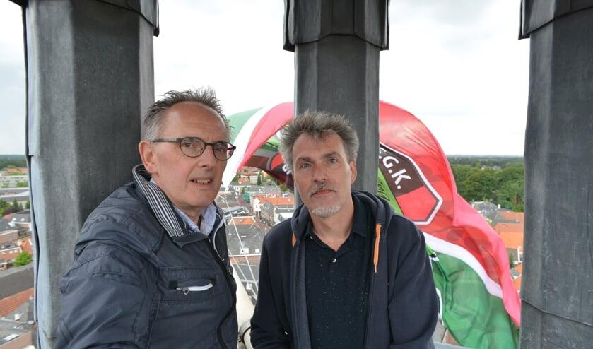 Marcel Oldenkotte (links) en Raymond Frank. Foto: SGK
