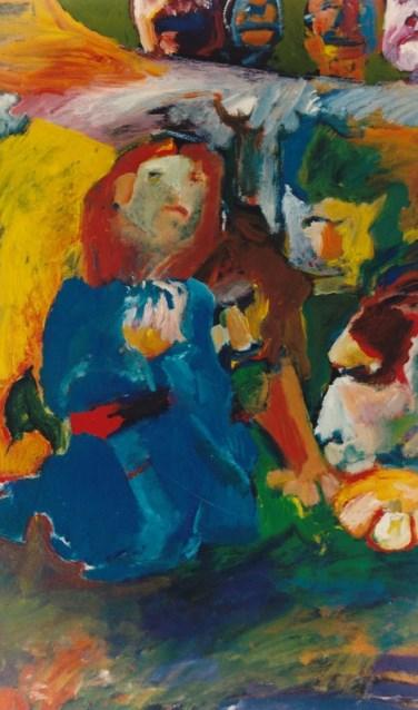 Schilderij van Willem Luesink, te zien in de Catharinakerk. Foto: PR