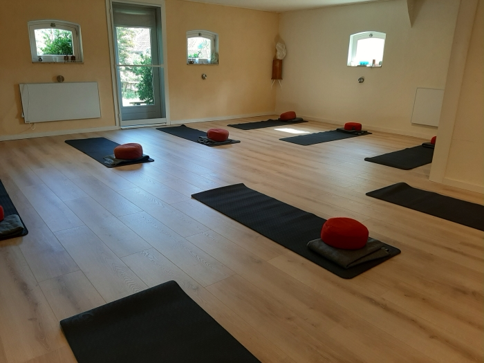 De yoga/pilates ruimte