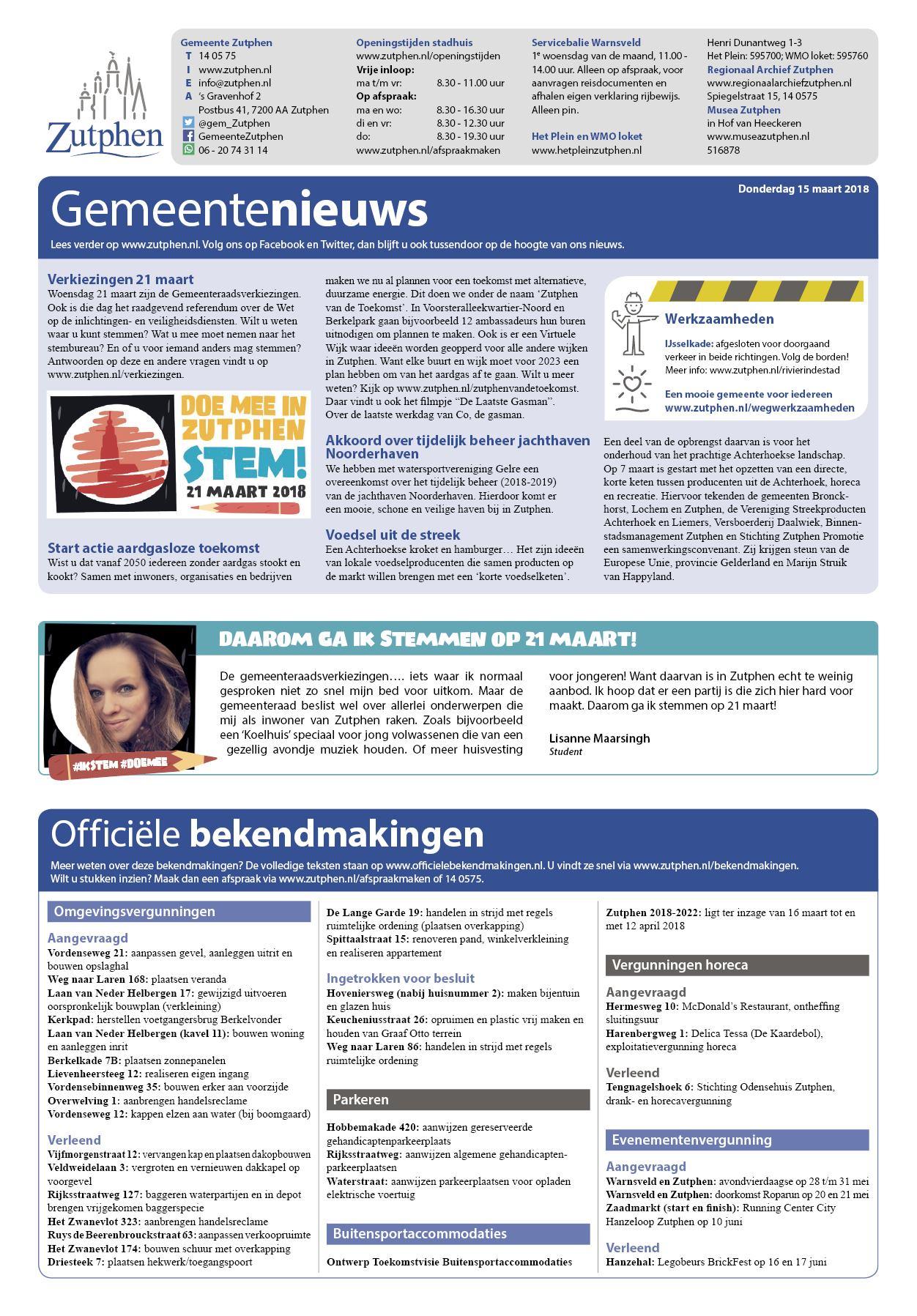 Contact Bronckhorst Noord 28 Augustus 2018