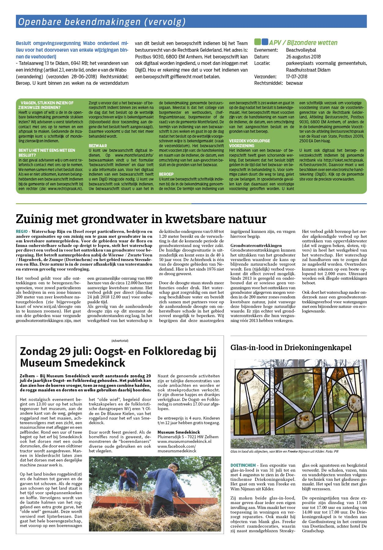 Montferland Nieuws 25 juli 2018