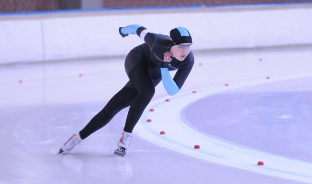 Rachelle van de Griek werd zondag tweede bij het Nederlands Kampioenschap Junioren Allround in Deventer.