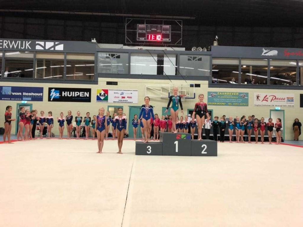 Denise met haar bronzen medaille