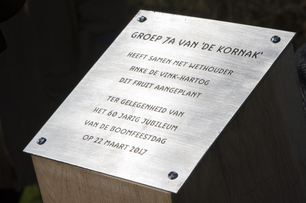 De plaque maakt het officieel  © Uitkijkpost Media Bv.