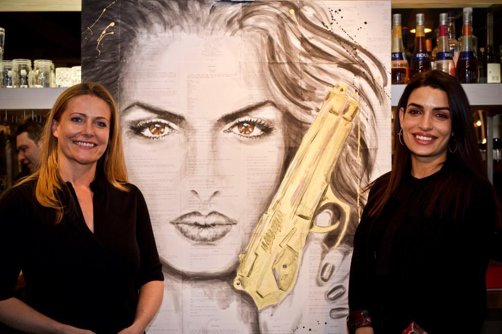 Vlnr: Kunstenares Thea van Dijk en Tonia Sotiropoulou Foto: Stip Fotografie  © Uitkijkpost Media B.v.