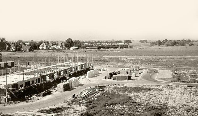 Bouw van de woningen aan Wayenburgh in 1967.