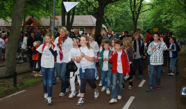 Vertrek vanaf de St. Radboudschool aan de Breedelaan.  Foto: Archieffoto Carolien Bree