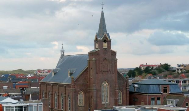 De oud-katholieke kerk aan de Voorstraat in Egmond aan Zee.