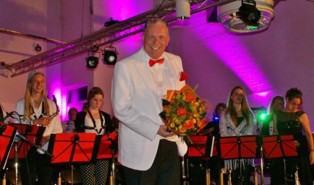 Dirigent Alwin van Halm, hier na een succesvol optreden.