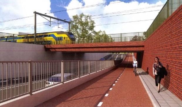 Impressie van de spoorwegonderdoorgang (www.heiloo.nl)
