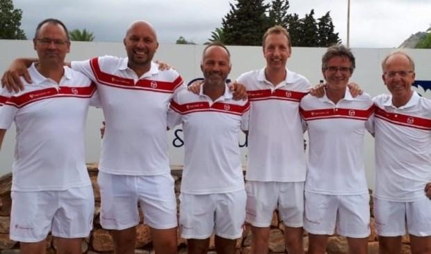 Team TV de Hout v.l.n.r.: Marck Limmen, Kris Portael, Hüseyin Diktas, Daniël Meure, Roy Boontje, Ronald van der Horst.