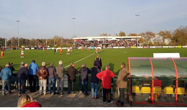 De derby tussen HSV en Foresters werd goed bezocht.