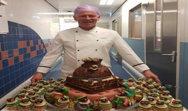 Chef-kok Schumacher met zijn creatie van dit jaar