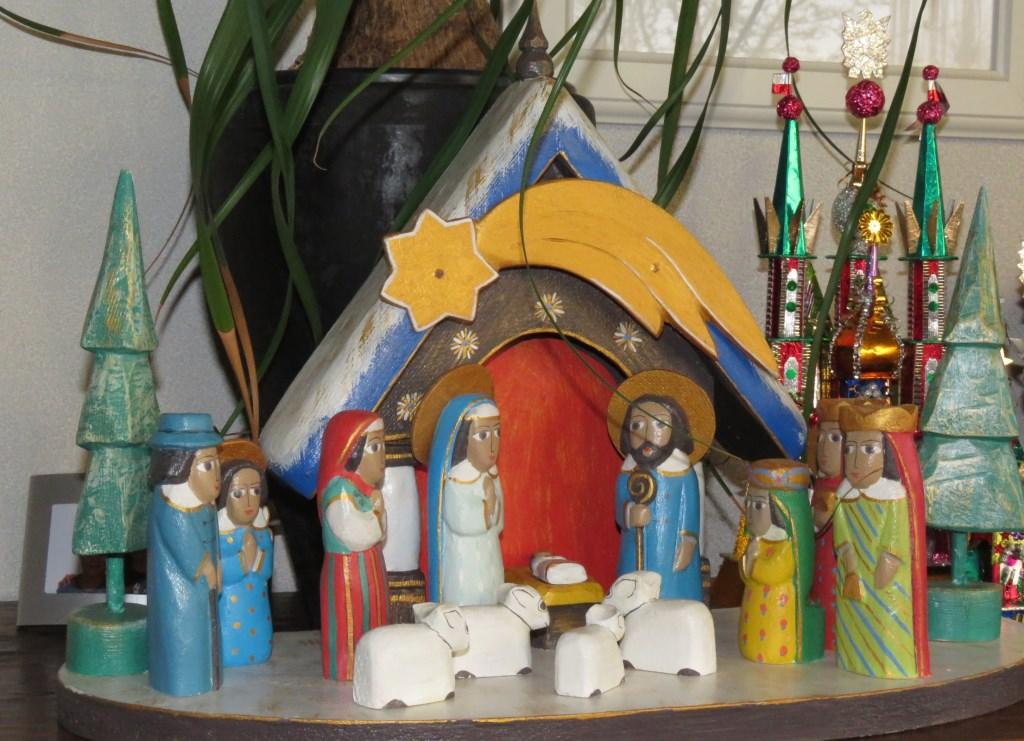 Eén van de kerststallen die wordt tentoongesteld.