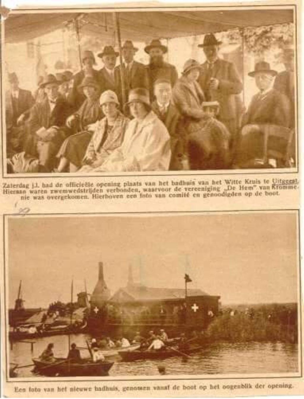 Artikel uit De Uitgeester, 30 juli 1926