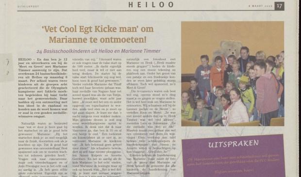 24 Basisschoolkinderen uit Heiloo waren uitverkoren om bij de 'Meet en Greet' met Marianne Timmer aanwezig te zijn.