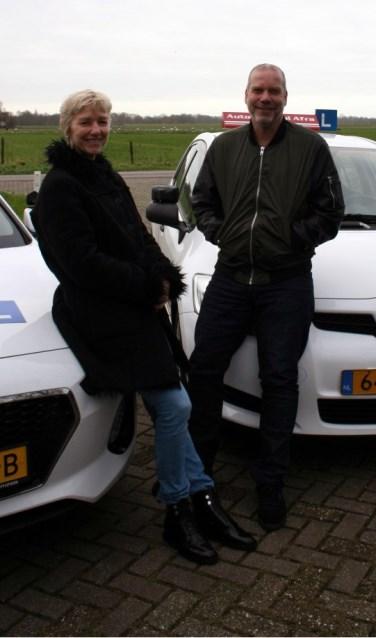Afra en Ivo: bedrijvig met Autorijschool Rohling.