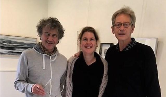 V.l.n.r. Joop Haring, Maartje Blans en  Paul Dikker