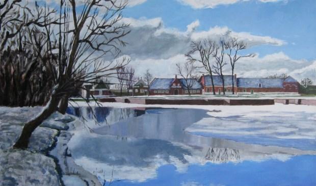 Een acrylschilderij van Cyril Wullems.