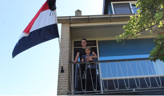 Teun Cornelisse mocht de vlag uithangen