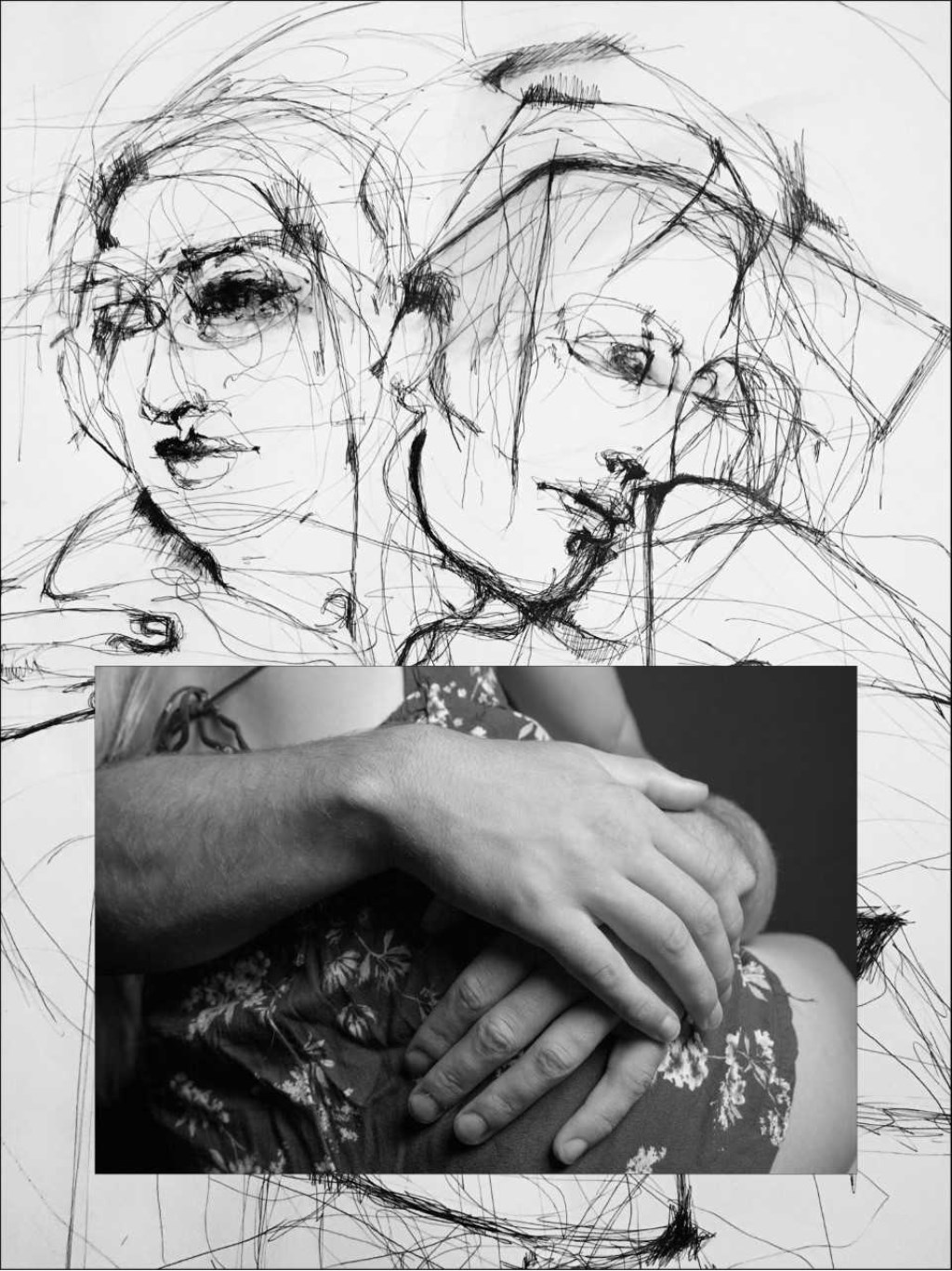 compositie met werk van Sabrina Tacci (legami) en Marina Pronk (embrace)