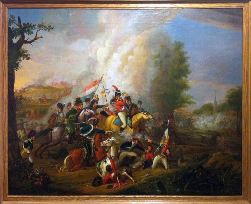Schilderij van de Slag bij Castricum, het onderwerp van de expositie in De Duynkant, in het kader van de Open Monumenten Dagen