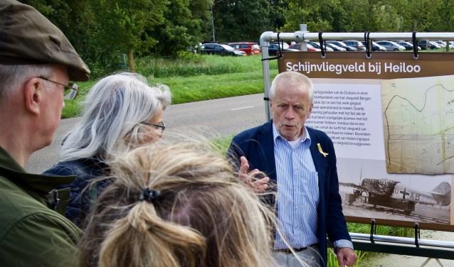Jaap de Graaf vertelt over het schijnvliegveld bij Heiloo.