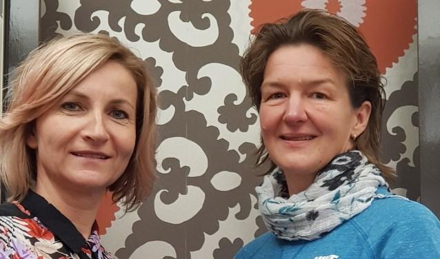 Initiatiefnemers van de Gezonde Route Akersloot: links Carola Sander  en rechts Anita Veldt