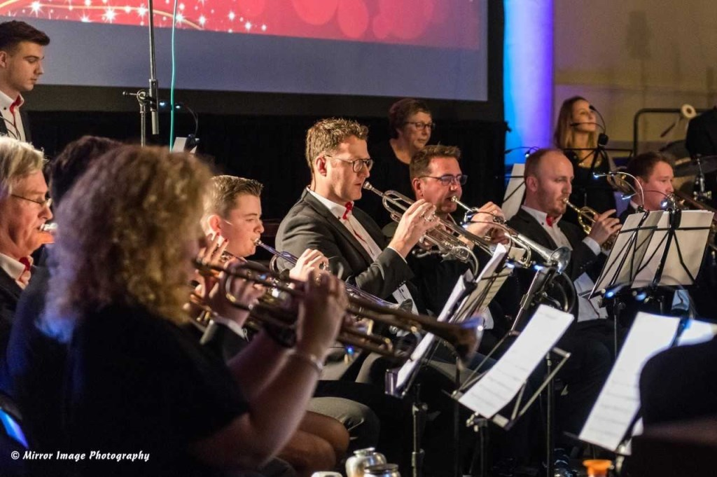 Ook de trompetsectie is in volle voorbereiding op de concoursdeelname van Emergo