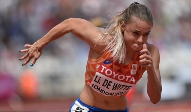 Lisanne de Witte in actie. (Foto: Erik van Leeuwen, Atletiekunie)