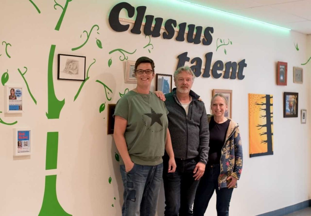 De docenten Michel van Noord, Jutta Kieven en Mirjam Glorie
