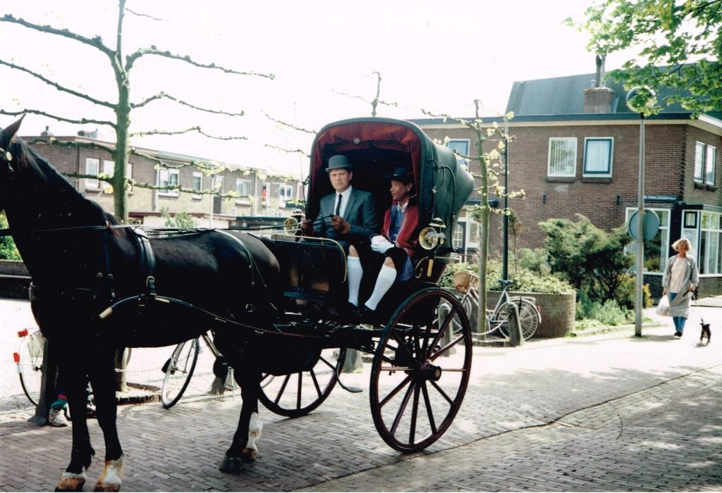 De toenmalige burgemeester Verdier arriveerde destijds per koets en gekostumeerd bij het Regthuys.   © Uitkijkpost Media Bv.