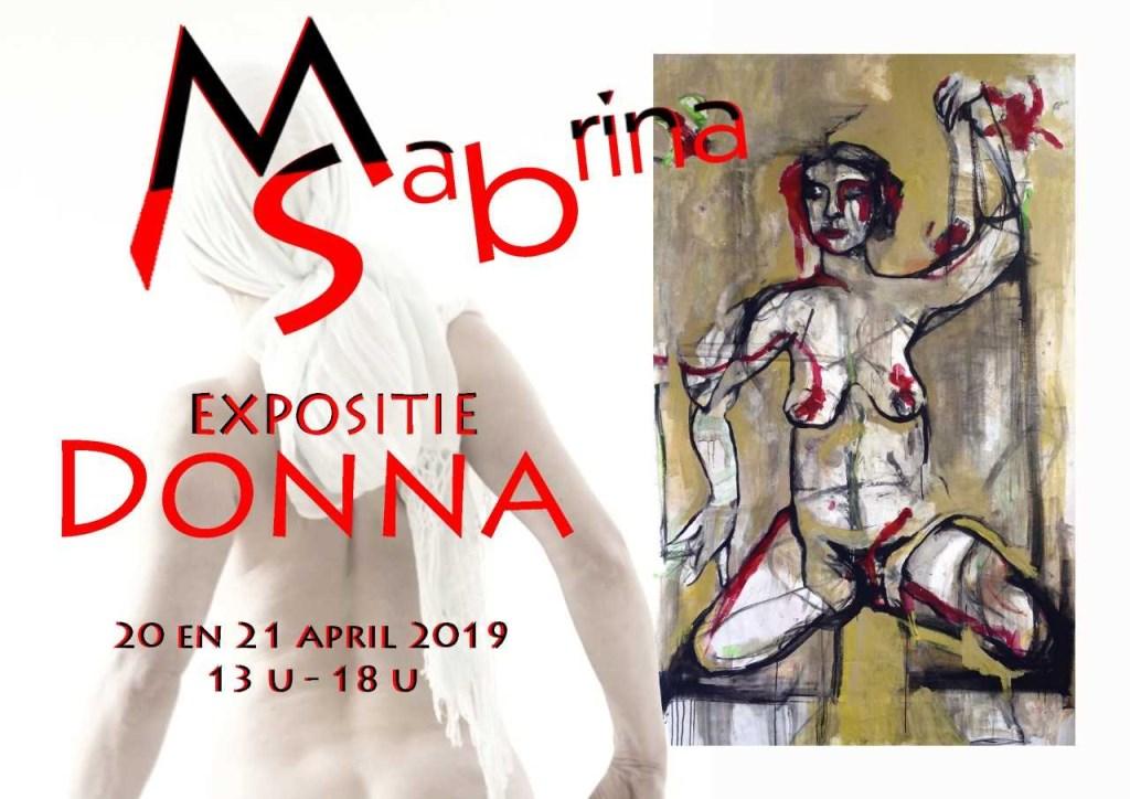 'Flora': de live painting die Sabrina Tacci in de lente van 2018 in het atelier van Marina & Sabrina maakte.