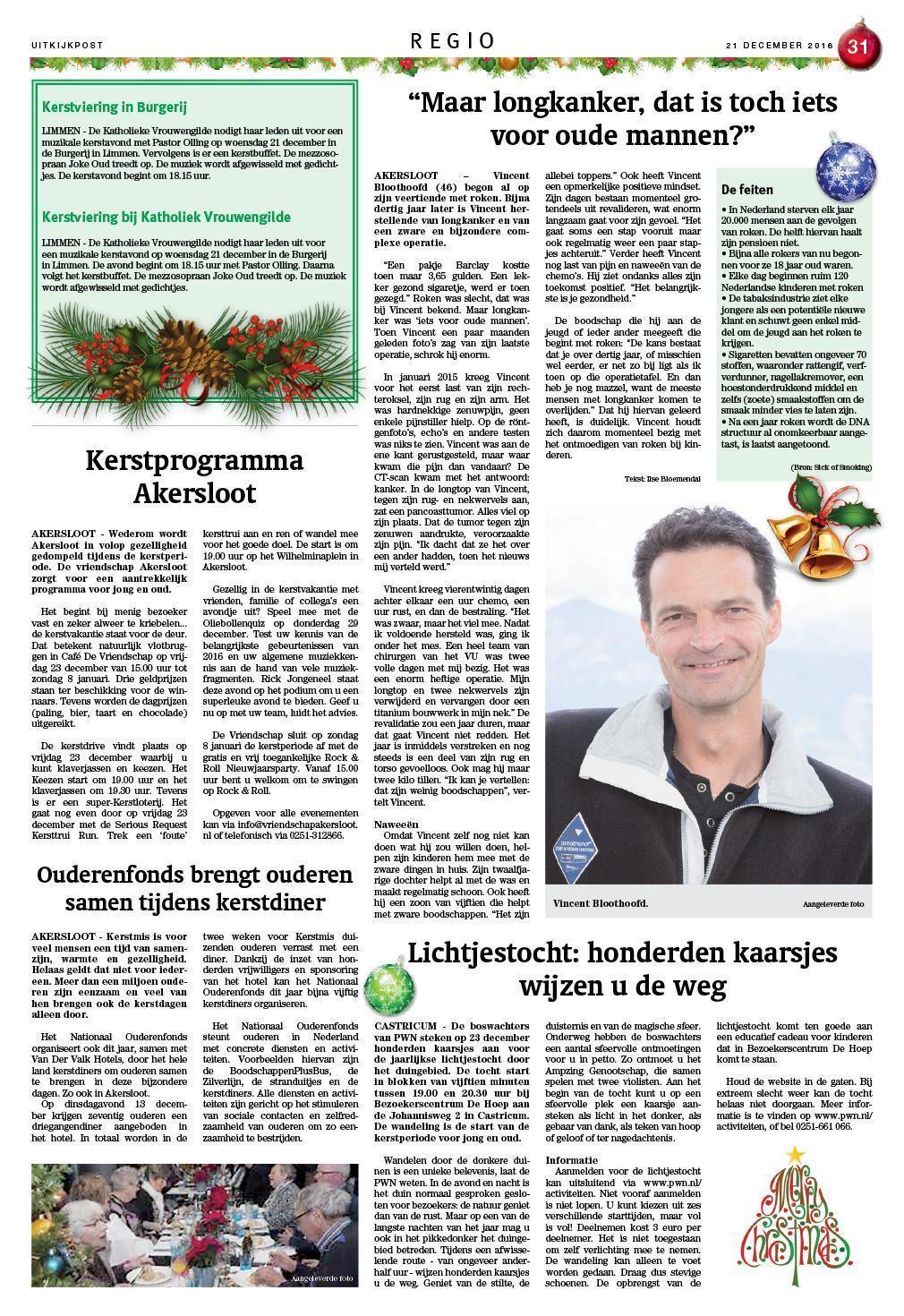 Kersttrui Staatsloterij.De Uitkijkpost 21 December 2016