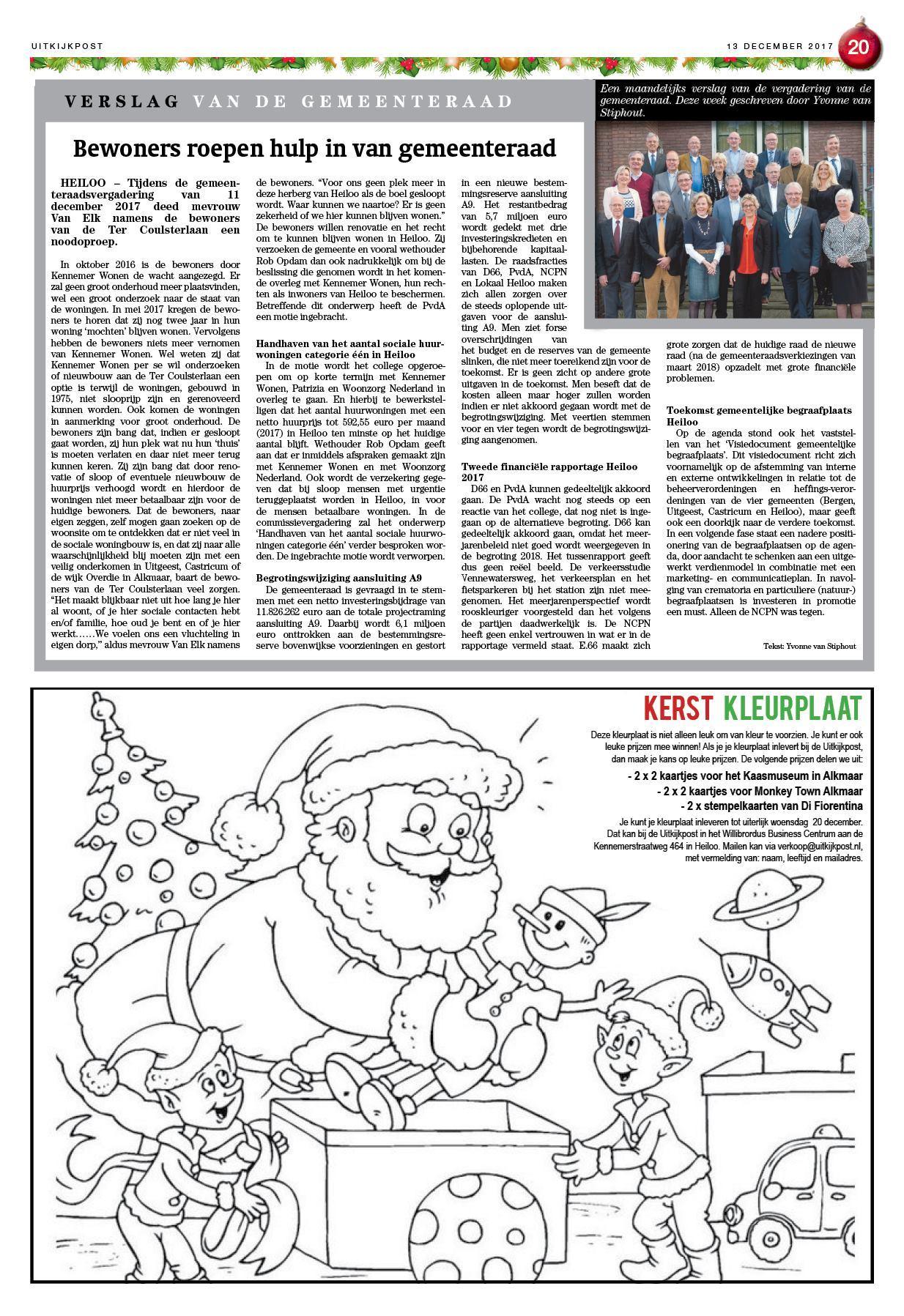 Kleurplaten Hartsvriendinnen.De Uitkijkpost 13 December 2017