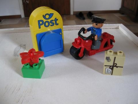 Duplo Postbode Met Motor Marktplein