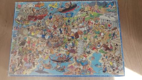 Jan Van Haasteren Europa Puzzel 1992 Gereserveerd Marktplein